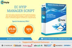 Now anyone can launch their own BTC Mining Website and start the Business. Get your BTC Mining website ready instantly with EC HYIP Script.