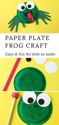 Learn how to make an adorable and fun Paper Plate Frog Craft for summer. This easy frog craft isperfect for helping kids, especially preschoolers, learn all about the life cycle of frogs and toads. #easyfrogcraft #paperplatefrogcraft #frogcrafttemplate #preschoolcrafts #paperplatecrafts #summercrafts #easycraftsforkids via @https://www.pinterest.com/fireflymudpie/