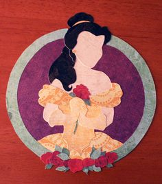 Paper Princess: Belle. via Etsy.