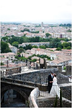 Wedding in walls of Carcassonne citadel | Planned by Fête in France, Image by David Bacher Photography