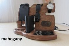 Gift for Men Docking Station, It keeps all personal items organized, Gift for Him, Christmas Gift, Personalized Gift, Gift for Husband DESCRIPTION Handmade wooden Docking Station is a great gift for men. Our wooden docking station has a unique design and is very easy to use as a charging station. Handmade Gifts For Men, Personalized Gifts For Men, Great Gifts For Men, Love Gifts, Handmade Wooden, Men Gifts, Handmade Design, Ldr Gifts For Him, Gifts For Husband
