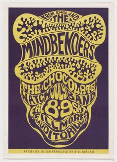 Wes Wilson, The Mindbenders, The Chocolate Watch Band, 1966