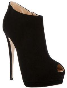 Giuseppe Zanotti Peep Toe Shoe Boot
