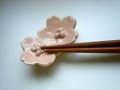 Set of 2pcs Lovely Sakura Flower Chopstick Rest by kawaiibeads
