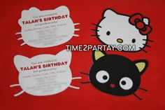 chococat party | Our Hello Kitty and Chococat Invitations. The girls got the Hello ...