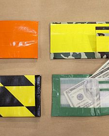 Duct tape is a World War Two-era invention that most often has  utilitarian uses, but can sometimes be put to more whimsical ends. This  project, which offers instructions on making a duct tape wallet, is a  perfect example and just right for kids.