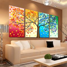 Latest cross stitch precision printing of painting flowers triple bedroom dining room living room painting four seasons of Crassula Argentea