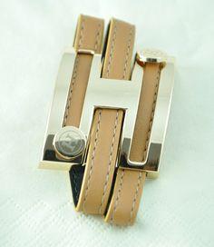Hermes Inspired Leather Bracelet
