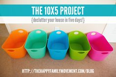 10x5 project - declutter your house in five days