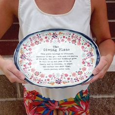 How bright and fun is this #NaturalLife plate!! It makes the perfect hostess gift!
