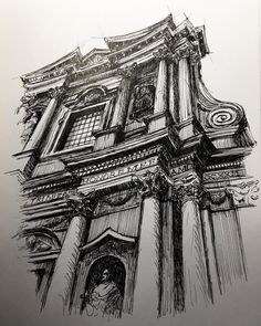 SS Trinit dei Pellegrini Drawing Urban Architecture on a Sketchbook By Mark Poulier # Interior Architecture Drawing, Architecture Antique, Architecture Drawing Sketchbooks, Urban Architecture, Famous Architecture, Architecture Portfolio, Pencil Sketches Architecture, Parametric Architecture, Architecture Diagrams