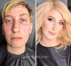 Makeup might not heal wounds but it can help people live with them. And that's exactly what Armenia-born and Moscow-based beauty guru Goar Avetisyan specializes Contour Makeup How To Do, Face Makeup Tips, Beauty Makeup, Makeup Looks, Hair Beauty, Queen Makeup, Face Makeover, Beauty Makeover, 40s Makeup