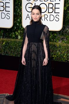 Emilia Clarke - Golden Globes 2016 Valentino Haute Couture dress