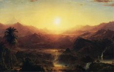 The Andes of Ecuador I by Frederic Edwin Church, 1855