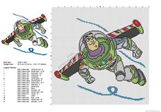 Cross stitch pattern Toy Story Buzz Lightyear ideal for pillow 142x127