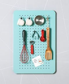 This cute metal peg board organizer is just what you need in your home to keep things running smoothly. Use the metal kitchen organizer as a central Metal Pegboard, Pegboard Organization, Kitchen Organization, Kitchen Pegboard, Organizing Tips, Kitchen Storage, Organization Ideas, Entryway Storage, Craft Storage