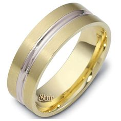 Two Tone Wedding Bands Collection ST2TONE-24-10K