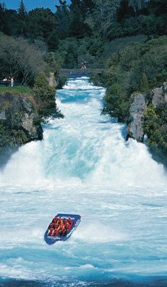 Jet Boating, Waikato River near the Huka Falls - NZ | That's going to be us someday, eh?! •-•
