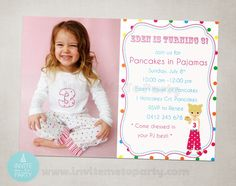 Invite Me To Party: Pancakes and Pajamas Party