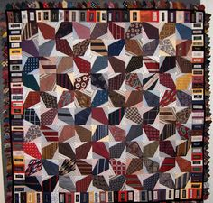 Shirt-and-tie quilts, by Nancy Sturgeon
