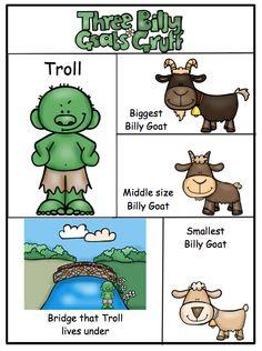 Preschool Printables: Free Billy Goats Gruff Mini Printable