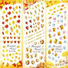 $1.49 1 Sheet Leaf Fruit House Nail Art Water Decals Transfer Sticker 328/329/330 - BornPrettyStore.com
