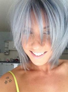 Image result for grey hair dos Short