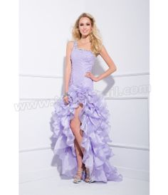 Lilac One Shoulder Sequin Gown