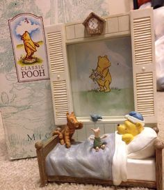 Classic Pooh Bedtime Frame In Iriginal Box By Michael & Co. VERY RARE & HTF*