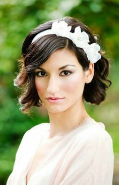 25 Wedding Hairstyles for Short Hair via Brit + Co.