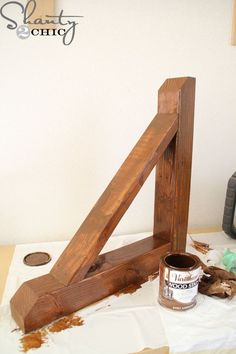 Follow this easy tutorial to build this easy Rustic Wood Corbel with scrap wood!