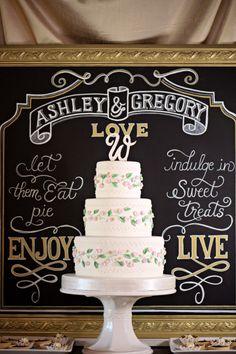 Pretty cake and love