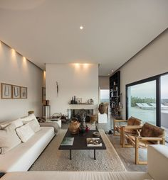 Living room with collected furnishings in Portugal