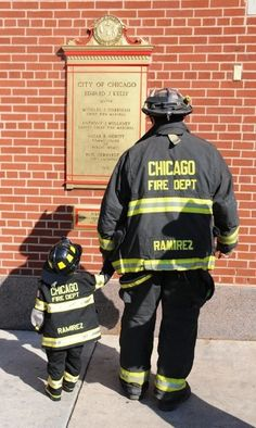 Uniform Duds for Kids, Custom Child-Sized Firefighter Gear Shared by LION Firefighter Family, Firefighter Paramedic, Volunteer Firefighter, Firefighter Pictures, Chicago Fire Department, Fire Dept, Clint Walker, Fire Trucks, Shelter