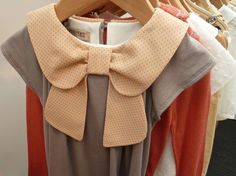 Beautifully tailored bow collar by Hucklebones on a girls top for summer 2013