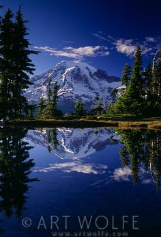 Mount Rainier reflected in one of the many lakes in Mount Rainier National Park, Washington Wolf Photography, Travel Photography, Photography Ideas, God Is Amazing, Mount Rainier National Park, Landscaping Images, Great Photographers, Colour Images, Great Photos