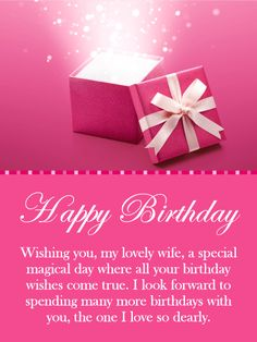 61 best birthday cards for wife images on pinterest in 2018 i love you so dearly happy birthday card for wife add a little magical m4hsunfo