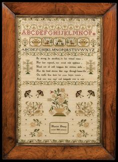 Lot 168: Very Fine English Needlework Sampler | Willis Henry Auctions, Inc.