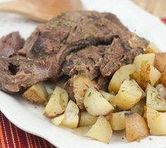 Slow Cooker Ranch Roast is a great option for dinner tonight. It's simple to make plus the slow cooker does all the work for you! Slow Cooker Roast Beef, Slow Cooker Soup, Slow Cooker Recipes, Cooking Recipes, Crockpot Meals, Sausage Crockpot, Slow Cooking, Cooking Ideas, Shrimp Pressure Cooker Recipe