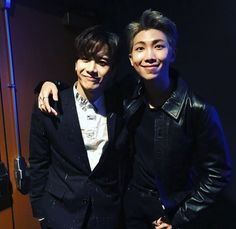 "mimibtsghost: ""Got7's Jackson and Namjoon's dear friend met RM at AMAs """