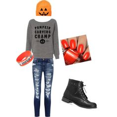 Halloween Outfit #2 by treppenwits on Polyvore featuring polyvore, fashion, style, Current/Elliott and Avenue