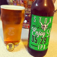 Finally home with my Babes... long day at work, but it's nothing a #Fresh #IIPA can't fix! #StoneBrewingCompany #Enjoy 05.26.17 was bottled less than 2-weeks ago and is tasting #Delicious! #Super #Hoppy with flavors of #Apricot and some #Citrus. As expected, #Ridiculously #Smooth and finishes #Clean, especially for 9.4% #ABV  #CheersToCraftBeer #SanDiegoBeer #SanDiegoLife #Cheers to #Dank #InstaBeer #Hops #CaliBeer #sandiego #sandiegoconnection #sdlocals #sandiegolocals - posted by Sam Romo…