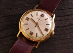 Vintage gold plated #Raketa Pakema #mens #watch #russian watch ussr cccp