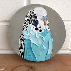 Budgies, Parrots, Art Painting Gallery, Bird Artwork, Texture Art, Animal Paintings, Rock Art, Diy Art, Art Inspo