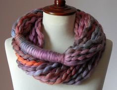 I saw someone wearing a scarf like this today.  Maybe a project for winter break...