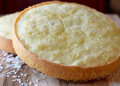 Moist coconut sponge cake loaded with coconut flavor! Combine this cake with any filling for a delicious coconut layer cake! Coconut Sponge Cake, Almond Coconut Cake, Lemon Sponge, Coconut Custard, Almond Joy, Coconut Milk, Sponge Cake Recipes, Bakery Recipes, Raffaello Cake Recipe