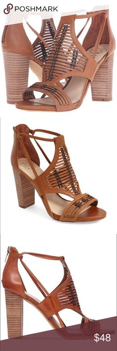 Vince Camuto Women's Ceara Sandal Block heel woven Vince Camuto Women's Ceara Sandal Block heel sandal with woven upper Style: Ankle Strap Closure Type: Zip Heel Height: 4 Heel Type: Block Material: Leather Platform Height: 0.25 Sole Material: Manmade Toe Style: Open Toe Occasion: Casual Strap Type: Ankle Strap Style #: Ceara Brand Name: Vince Camuto Department: Womens Category: Heeled Sandals Vince Camuto Shoes Sandals