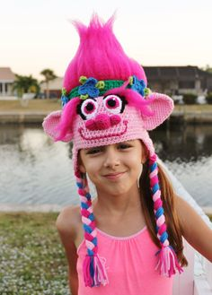 Get your hair in the air with this amazing Princess Poppy Crochet Hat Pattern inspired by the Dreamworks movie Trolls! This Poppycrochet hat is made with soft, durable acrylic yarn and features a 3-D amigurumi-style design that looks stunning from every angle. Your loved one (or