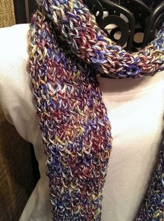 Special Offer! Buy before March 1 and all items donate 100% proceeds to our Avon Walk Fundraiser. Fantasy Lightweight Scarf with Hand-dyed Specialty Yarn