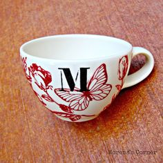 Anthro Inspired Mug made with Martha Stewart Glass Paints - Morena's Corner